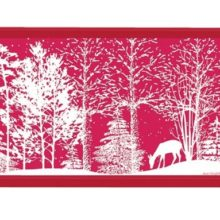 Tablett MICHEL DESIGN WORKS klein SNOWY NIGHT Winter Weihnachten