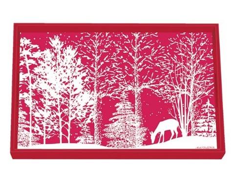 Tablett MICHEL DESIGN WORKS klein SNOWY NIGHT Winter Weihnachten