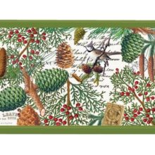 Tablett MICHEL DESIGN WORKS klein SPRUCE Wald Winter Weihnachten
