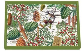 Tablett MICHEL DESIGN WORKS klein SPRUCE Wald Winter Weihnachten