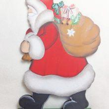 Holzdeko Aufsteller Weihnachtsmann Nikolaus Knecht Ruprecht gross La Cassetta