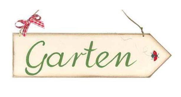 Dekoschild Garten Pfeil Wegweiser Hochwertige Holzschilderla Cassetta
