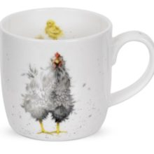Royal Worchester Wrendale Designs Mug Tasse HUHN Curious hen La Cassetta
