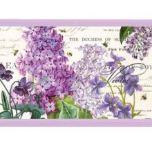 Tablett MICHEL DESIGN WORKS klein LILAC and VIOLETS Flieder Veilchen violett La Cassetta