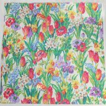 Tischdecke 130x130cm SANDERSON Salad Days Frühlingsblumen bunt La Cassetta
