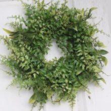 Dekokranz Türkranz Blätter Farn grün La Cassetta