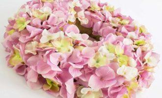 Dekokranz Türkranz Frühling Sommer Hortensie rosa pink La Cassetta