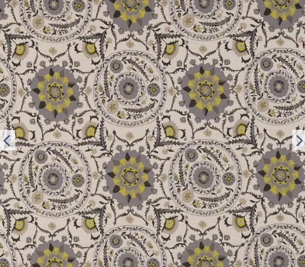 SANDERSON UK Meterstoff ANTHOS chacoral linden Jacqaurd orientalisch La Cassetta 1