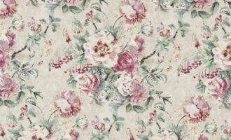 SANDERSON UK Meterstoff GISELLE dove pink Blumen Bouquet La Cassetta 1