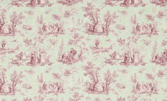 SANDERSON UK Meterstoff Toile de jouy rosa grau blau JOSETTE rose sage La Cassetta 1