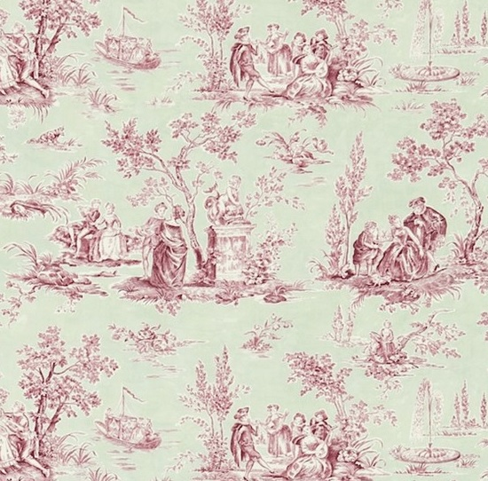 meterstoff josette rose sage stoff toile de jouy rosa. Black Bedroom Furniture Sets. Home Design Ideas