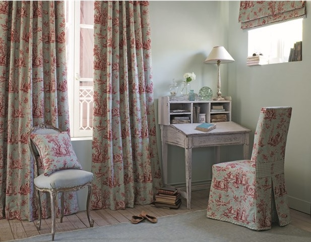 toile de jouy stoffe im franz sischen landhausstil online kaufen la cassetta. Black Bedroom Furniture Sets. Home Design Ideas