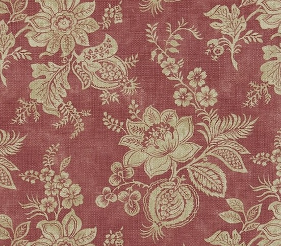 SANDERSON UK Meterstoff LYON russet floraler Damast rotbraun La Cassetta 2