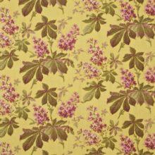 SANDERSON UK Meterstoff PAVIA linden plum Kastanien Blüten gelb pink grün La Cassetta 1