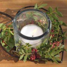 Eisen Windlicht Teelichthalter BLATT Leaf WMG La Cassetta