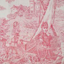 THEVENON Meterstoff Toile de jouy HISTOIRE D EAU bordeaux La Cassetta