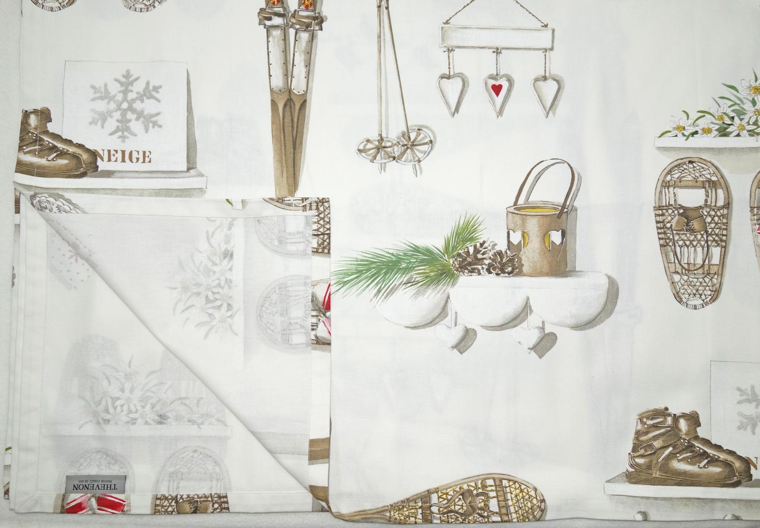 Tischdecke MERRY BELL 160x260cm Weihnachten THEVENON La Cassetta 1