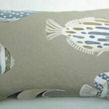 THEVENON Kissenhülle COPACABANA leinen Fische 40x60cm La Cassetta