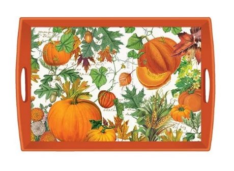 Tablett MICHEL DESIGN WORKS groß PUMPKIN MELODY Kürbis orange Herbst