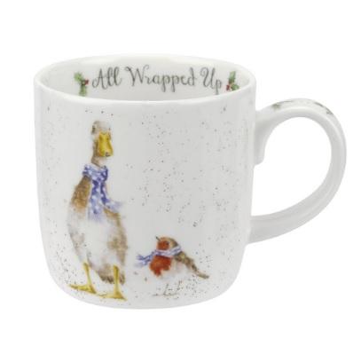 Royal Worcester WRENDALE All Wrapped Up Mug Gans und Rotkehlchen La Cassetta