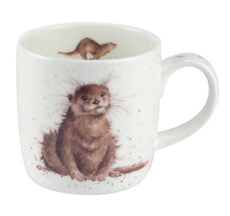 Royal Worcester WRENDALE Mug Otter La Cassetta