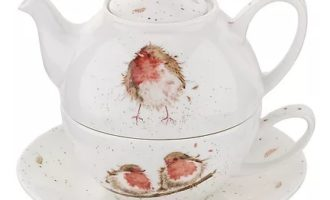 Royal Worcester WRENDALE Tea for one ROTKEHLCHEN La Cassetta