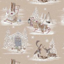 THEVENON Stoff La Cassetta RENNES DES NEIGES 1 Winter Weihnachten