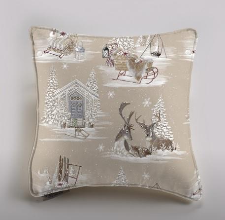 THEVENON Stoff La Cassetta RENNES DES NEIGES 5 Winter Weihnachten