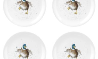 Royal Worcester WRENDALE Dessertteller 4er Set DUCK La Cassetta