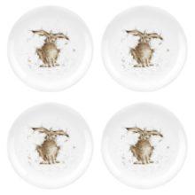 Royal Worcester WRENDALE Dessertteller 4er Set HARE La Cassetta