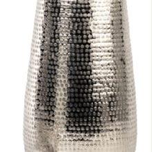 ALU Vase WMG Aluminium Vase gehämmert Alu Deko La Cassetta