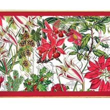 Tablett Michel Design Works Lacktablett Decoupage groß HOLIDAY Weihnachten La Cassetta