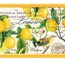 Tablett Michel Design Work Lacktablett Decoupage klein LEMON BASIL Zitrone gelb La Cassetta