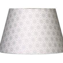 Nordika Lampenschirm glatt MSS M3 grafisches Muster hellgrau La Cassetta