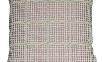 Kissenhülle ELNA Hahnentritt rosa creme 40x40cm LAZIS La Cassetta