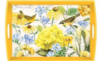 Tablett lack Decoupage MICHEL DESIGN WORKS groß TRANQUILITY Blumen Frühling La Cassetta