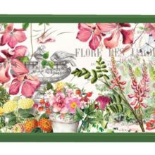 Tablett Lack Decoupage MICHEL DESIGN WORKS klein IN THE GARDEN Blumen Frühling La Cassetta