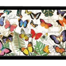 Tablett Lack Decoupage MICHEL DESIGN WORKS klein PAPILLON Schmetterlinge La Cassetta