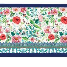 Tablett Lack Decoupage MICHEL DESIGN WORKS klein WILD BERRY BLOSSOM Wildblumen La Cassetta