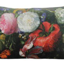 Kissenhülle 50x70cm REMBRANDT Steen Design Stilleben Blumen klassisch La Cassetta