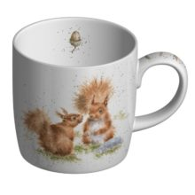 Royal Worcester WRENDALE Mug Eichhörnchen Freunde Beetween friends La Cassetta