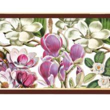 Tablett MICHEL DESIGN WORKS klein MAGNOLIA Lack Decoupage La Cassetta