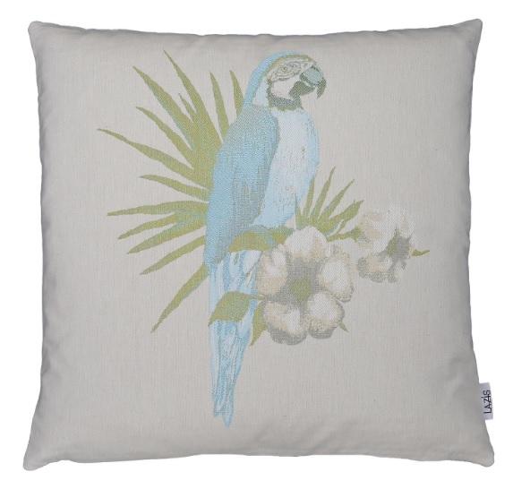 Kissenhülle 50x50cm CUBA Papagei blau LAZIS La Cassetta
