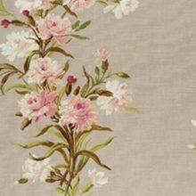 ILI Stoff CARNATION taupe Meterstoff Blumenranken romantisch by La Cassetta