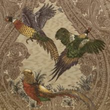 ILI Stoff GAME BIRDS heritage Meterstoff Fasan Rebhuhn Wildenten Jagd La Cassetta
