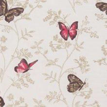 ILI Stoff PAPILLON cerise Meterstoff Schmetterlinge rosa braun La Cassetta