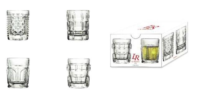 La Rochere AFTER Set de 4 SHOOTER Bar-Gläser aus Frankreich La Cassetta Wien