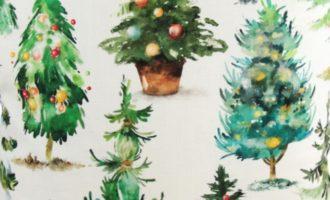 Meterstoff KLAUSI Steen Design Weihnachten Tannenbäume Weihnachtsbäume Christbäume La Cassetta