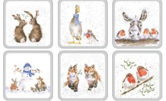 Royal Worcester WRENDALE Christmas coasters Untersetzer WEIHNACHTEN 6 er Set La Cassetta