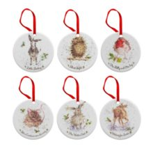 Royal Worcester WRENDALE Christmas decorations 6 er Set Christbaum Weihnachts Deko La Cassetta